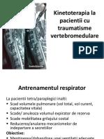 Kinetoterapia la pacientii cu traumatisme vertebromedulare