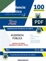Audiencia pública 100 días (PARCIAL)