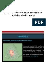 Percepcion Auditiva de Distancia
