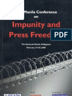 The Manila Conference on Impunity and Press Freedom