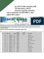 Extended Ascii Table Pdf