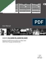 behringer-xenyx xl3200 manual