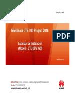 ESTANDAR DE INSTALACION TELEFONICA LTE eNodeB - LTE DBS 3900