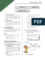 II BIM - 5to. Año - ALG- Guía 3 - Factorización I.doc SAMUEL