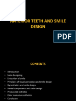 ANTERIOR TEETH AND SMILE DESIGN