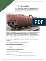 Type of boilers