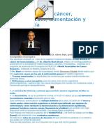 Dr. Alberto Martí, Cáncer, Enfermedades, Alimentación y Homeopatía. ABC Homeopatía
