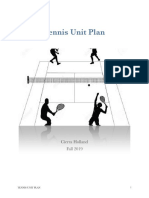Unit Plan - Tennis