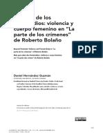 Mas alla femicidios - Bolaño