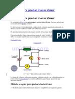 Método para probar diodos Zener