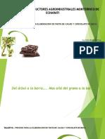 taller proceso para elaboracion de pasta de cacao y chocolates