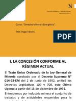 concesión del régimen contractual