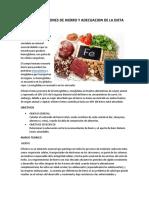 RECOMENDACIONES DE HIERRO Y ADECUACION DE LA DIETA