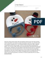 Snowman Hat Crochet Pattern