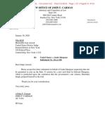 USA v Mangano - Linda Mangano's Letter Motion for New Trial fuiled Jan 30 2020