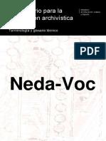 NEDA-Voc. Terminología y glosario técnico de descripción archivística