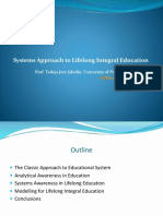 Systems Approach to Lifelong Integral Education
