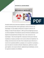 HISTORIA DE LA BIOSEGURIDAD