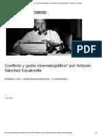 Conflicto y guión cinematográfico_ por Antonio Sánchez Escalonilla _ anatomía de la imagen