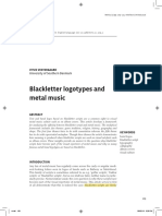 Blackletter logotypes and metal music