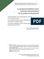 proporcionalidad y justicia transicional