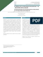 Conceptualización teórica de la resiliencia psicosocial y su relación con la salud