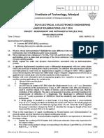 Measurement and instrumentation [ELE 306] (Make up) RCS