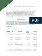Cronograma de Actividades para la Formulación y la Ejecución del Proyecto