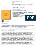Knowledge and numbers in education