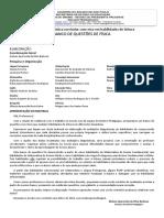 FÍSICA_Banco de Questões Diagnósticas 2016