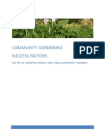 Successful Factors in Creating and Maintaining a Community Garden, Australia