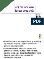 Cursul VIII tehnici de scriere creativa