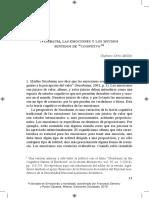 Ortiz Milán, Gustavo - Nussbaum, las emociones y los muchos sentido de cognitivo