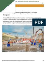Concrete strategy_ Transgulf Readymix Concrete Company - Machinery, Plant _ PMV Middle East