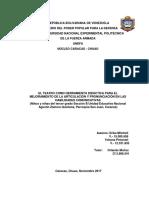 EL TEATRO COMO HERRAMIENTA DIDÁCTICA PARA EL MEJORAMIENTO DE LA ARTICULACIÓN Y PRONUNCIACIÓN EN LAS HABILIDADES COMUNICATIVAS