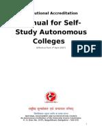 Manual for Self Study for Autonomous-Final-30!05!07