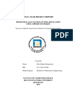 FINAL YEAR PROJECT REPORT 2