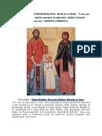 Viața Sfinților Mucenici Rafael, Nicolae și Irina