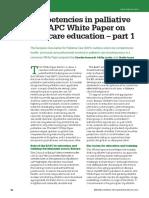 Core Competencies in Palliative Care - An EAPC White Paper on Palliative Care Education – Part 1 FB