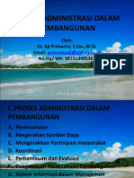 Proses Administrasi Dalam Pembangunan