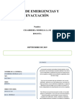 PLAN EMERGENCIAS Y EVACUACIÒN