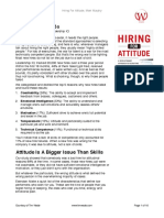 Book Summary Hiring for Attitude L