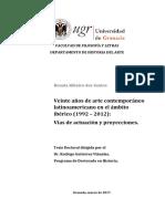 VEINTE AÑOS DE ARTE CONTEMPORÁNEO LATINOAMERICANO EN EL ÁMBITO IBÉRICO