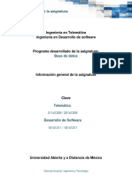 Informacion General de La Asignatura 2019 1
