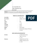 Resume (Sample)