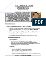 Ptr MOSES CARLOS B. AGAWA__RESUME / CV__Updated December 2010