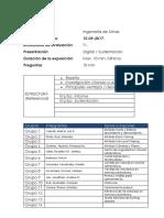 Grupos para Informe T1