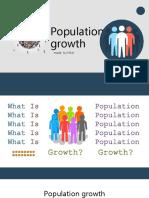 Bahasa Inggris POPULATION GROWTH