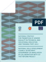 National Strategy for Promotion of Gender Equality in TVET in Bangladesh