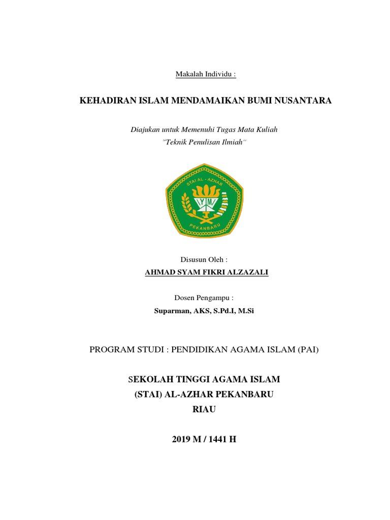 Makalah Kehadiran Islam Mendamaikan Bumi Nusantara